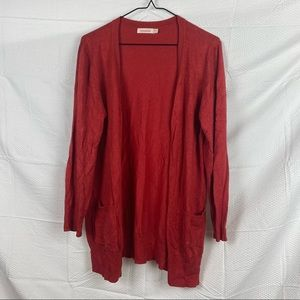Women's Cocolatte Red Long Sleeve Button Down Cardigan Size 16
